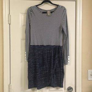 Dolan anthropology striped dress blue size medium